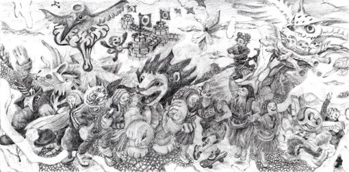 180121・トラブゾン「22世紀の種、」素描・510.jpg