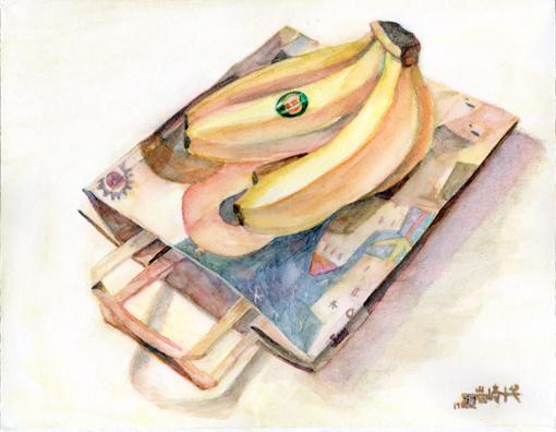 003・バナナ+包装紙・510.jpg