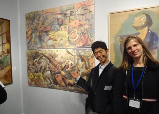 017・ソフィーと岩崎ナギ作品前・510.jpg