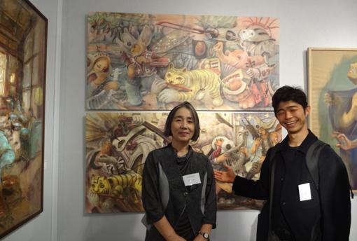 032・北海道の作家ゴムマリンさんと自作前・510.jpg